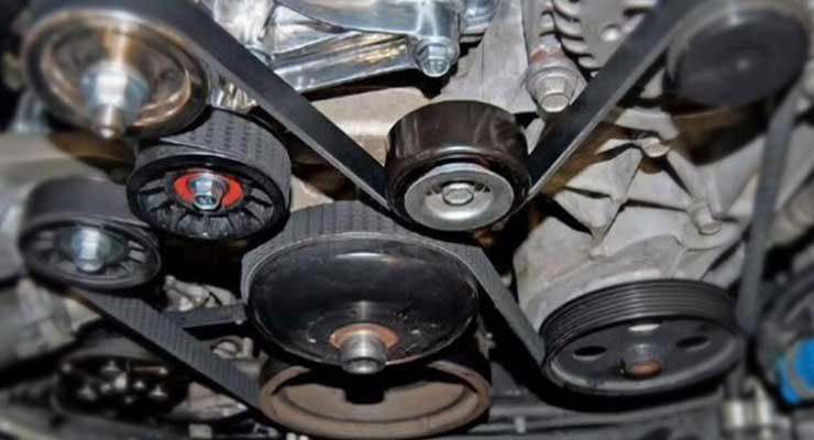 Bearing Pulley Mesin Suara Mesin Mobil Mendengung