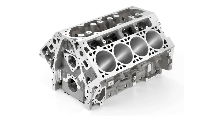 Blok Silinder Komponen Mesin Mobil