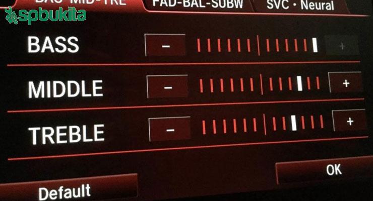 Cara Setting Audio Mobil mengatur treble dan bass