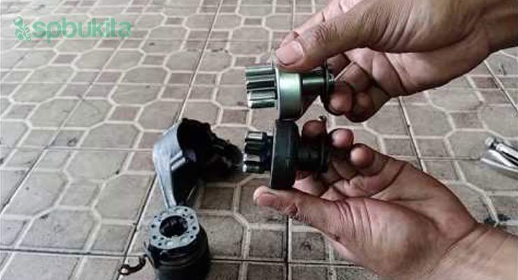 Kerusakan Pada Gigi Pinion Motor Starter